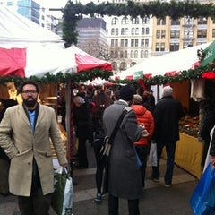 Photo taken at Union Square Holiday Market by Deepti S. on 12/24/2012