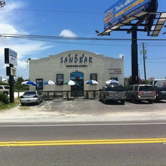 Photo taken at Sandbar Seafood, Deli, And Oyster Bar by Donnie D. on 7/10/2012