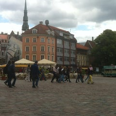 Photo taken at Pils laukums | Castle square by Jelena P. on 6/6/2012