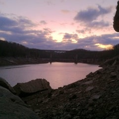 Photo taken at Summersville Dam by Elliot G. on 2/26/2012