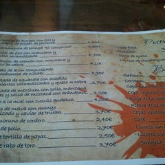Photo taken at Gastro-Taberna El Gazpacho by Javier H. on 5/4/2012