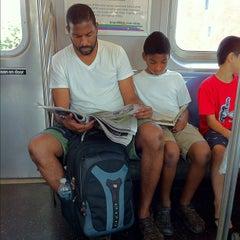 Photo taken at MTA Subway - M Train by J D. on 8/31/2012