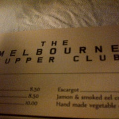 Photo taken at The Melbourne Supper Club Bar by Daniel L. on 7/27/2012