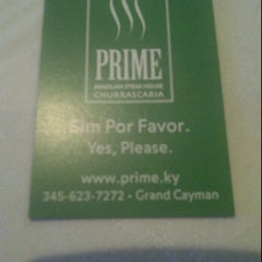 Photo taken at PRIME Brazilian Steakhouse by Maurys M. on 2/11/2012