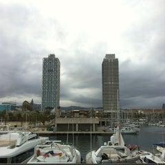Photo taken at Port Olímpic by dimalive on 4/22/2012