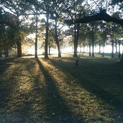 Photo taken at Claremore Lake (North Side) by Andrew J. on 10/24/2011