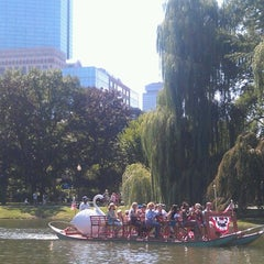 Photo taken at The Swan Boats by Manny O. on 9/1/2012