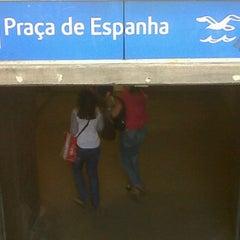 Photo taken at Metro Praça de Espanha [AZ] by Filipe N. on 5/24/2012