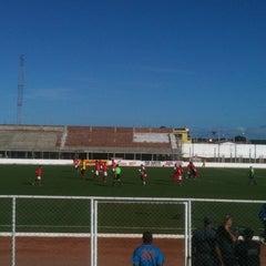 Photo taken at Estádio Municipal José Nazareno do Nascimento (Nazarenão) by Larissa A. on 6/26/2011