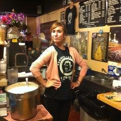 Photo taken at Mamoun's Falafel Restaurant by Brittani G. on 12/13/2011