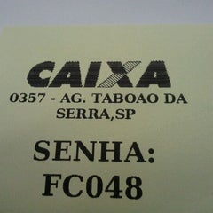 Photo taken at Caixa Econômica Federal - Taboão by Marcelo M. on 2/14/2012
