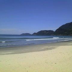Photo taken at Praia de Guaecá by Mauricio F. on 10/25/2011