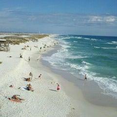 Photo taken at Navarre Beach by Sharon C. on 12/30/2011