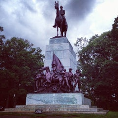 Photo taken at Virginia Monument, Gettysburg Battlefield by Bill S. on 8/19/2012