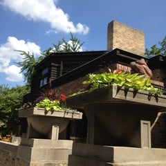 Photo taken at Frank Lloyd Wright Home and Studio by Backyard Tourist on 6/20/2012