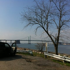 Photo taken at Throgs Neck Bridge Lookout Parking Lot by Max I. on 3/22/2012