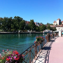 Photo taken at Quai Napoléon III by Robin C. on 8/18/2012
