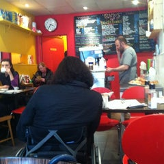 Photo taken at Mario's Cafe by Miqui M. on 4/28/2012