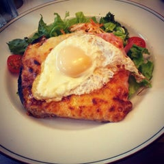 Photo taken at Mon Petit Café by Bianca L. on 7/28/2012