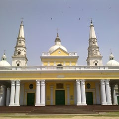 Photo taken at Basilica Shrine Sardhana by Joshua D. on 5/1/2012