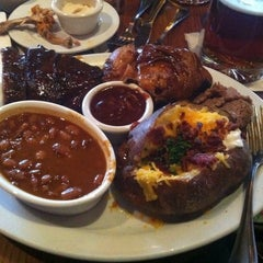 Photo taken at Back Forty Texas BBQ Roadhouse & Saloon by Pat M. on 3/22/2012