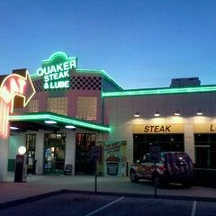 Photo taken at Quaker Steak & Lube by Chris B. on 1/23/2012