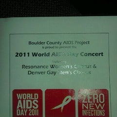 Photo taken at First United Methodist Church of Boulder by Ian P. on 12/2/2011