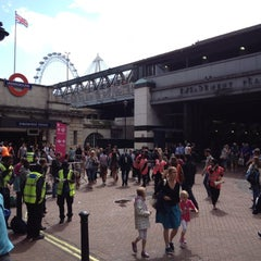 Photo taken at Embankment London Underground Station by Marcelo A. on 8/5/2012