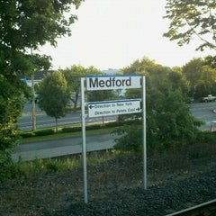 Photo taken at LIRR - Medford Station by Mikel K. on 8/1/2012