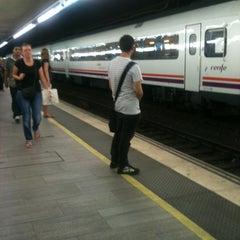 Photo taken at RENFE Passeig de Gràcia by Mel on 6/27/2012