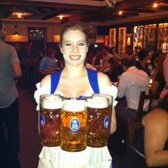 Photo taken at Hofbräu Bierhaus NYC by Estee J. on 9/28/2011