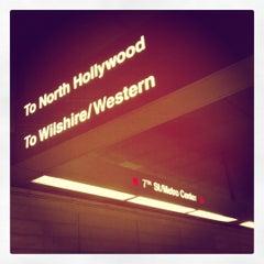 Photo taken at 7th St/Metro Center (Julian Dixon) Metro Station by Gary E. on 8/23/2012