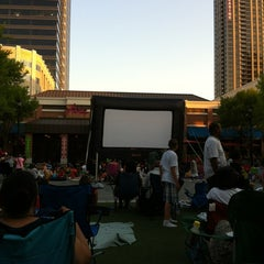 Photo taken at Atlantic Station Central Lawn by Michael P. on 5/25/2012