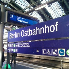 Photo taken at Berlin Ostbahnhof by Vincent V. on 11/1/2011