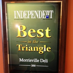 Photo taken at Morrisville Deli by Charlie F. on 11/2/2011