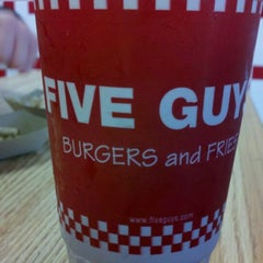 Photo taken at Five Guys by Christina C. on 8/31/2011