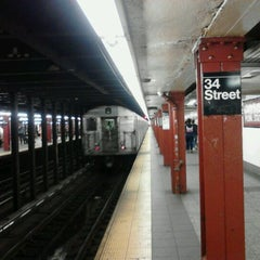 Photo taken at MTA Subway - 34th St/Penn Station (A/C/E) by 0zzzy on 5/23/2012