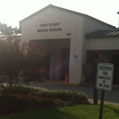 Photo taken at First Flight Middle School by  Holly O. on 8/29/2012