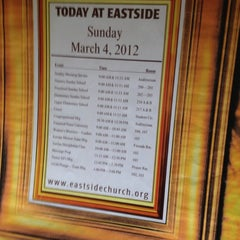 Photo taken at Eastside Foursquare Church by Scott B. on 3/4/2012