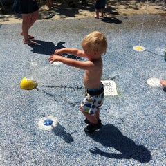 Photo taken at Zachary's Playground - Hawk Ridge Park by Angie W. on 8/7/2011