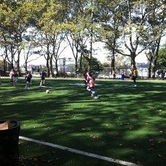 Photo taken at 101 Street Soccer Field by Joanna P. on 10/2/2011