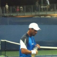 Photo taken at Court 12 - USTA Billie Jean King National Tennis Center by Sandy B. on 8/28/2012