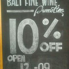 Photo taken at Bali Fine Wine by Winda A. on 10/2/2011