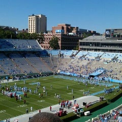 Photo taken at Kenan Memorial Stadium by Jennifer B. on 10/8/2011