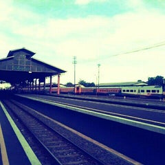 Photo taken at Stasiun Lempuyangan by R.r. Diany Indah P. on 12/10/2011