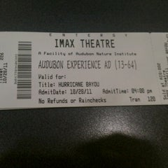 Photo taken at Entergy IMAX Theater by Princess C. on 10/28/2011