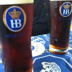 Photo taken at Hofbräu München Beer Hall by Pepe C. on 8/8/2012