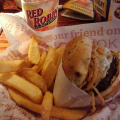 Photo taken at Red Robin Gourmet Burgers by Amanda H. on 5/9/2012