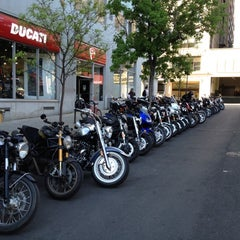 Photo taken at Ducati Triumph New York by Quasi M. on 4/19/2012