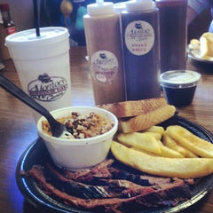 Photo taken at Monroe's Smokehouse BBQ by violet s. on 6/2/2012